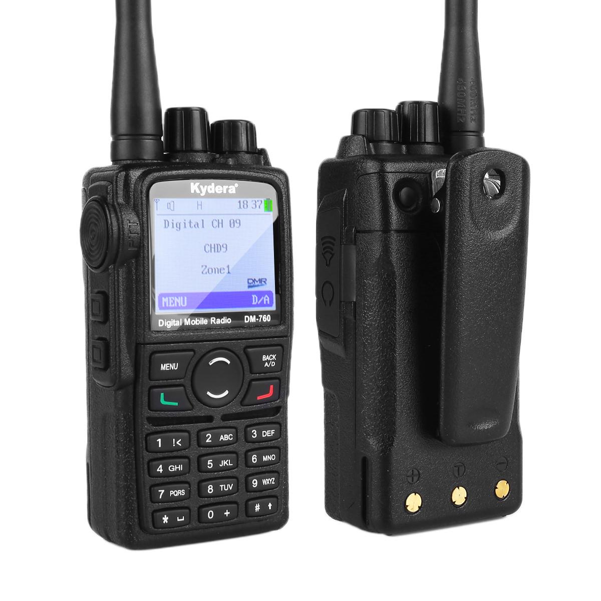 Портативная цифро-аналоговая радиостанция KYDERA DM-760 UHF(400-470МГц), 2000 мАч